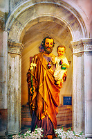 """Saint Joseph and Baby Jesus - Santa Maria Maggiore in Assisi and Venice - Painting by Dino Carbetta""…<br />