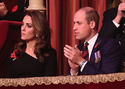 Members of The Royal Family attend The Festival Of Remembrance at The Royal Albert Hall, London, UK, on the 10th November 2018. Picture by Chris Jackson/WPA-Pool. 10 Nov 2018 Pictured: Catherine, Duchess of Cambridge, Kate Middleton, Prince William, Duke of Cambridge. Photo credit: MEGA TheMegaAgency.com +1 888 505 6342