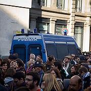 Italian Police during the Indignados demonstration in Milan