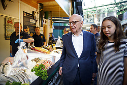 June 14, 2017 - London, London, UK - London, UK. Owner of News Corp UK, RUPERT MURDOCH and his daughter CHLOE MURDOCH attend the reopening of Borough Market in London as it reopens on 14 June 2017, following a terror attack that killed 8 people over a week ago. (Credit Image: © Tolga Akmen/London News Pictures via ZUMA Wire)