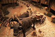 Model of Iron Age village life, Iron Age museum, Andover, Hampshire, England, UK
