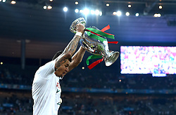 Jose Fonte of Portugal lift's the Henri Delaunay Trophy  - Mandatory by-line: Joe Meredith/JMP - 10/07/2016 - FOOTBALL - Stade de France - Saint-Denis, France - Portugal v France - UEFA European Championship Final