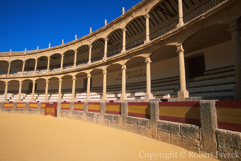 SPAIN, ANDALUSIA RONDA: beautiful 'pueblo blanco' and resort with one of Spain's earliest bullrings built in 1785