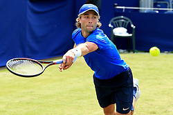 Liam Broady of Great Britain in action during the 1st Round match against Sam Groth of Australia - Mandatory by-line: Matt McNulty/JMP - 31/05/2016 - TENNIS - Northern Tennis Club - Manchester, United Kingdom - AEGON Manchester Trophy