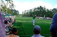 Bryson DeChambeau (USA) on the 14th tee during the 1st round at the The Masters , Augusta National, Augusta, Georgia, USA. 11/04/2019.<br /> Picture Fran Caffrey / Golffile.ie<br /> <br /> All photo usage must carry mandatory copyright credit (© Golffile | Fran Caffrey)