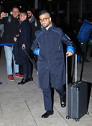 The Italy team arrive at Manchester Airport on Thursday night forTheir friendly with Argentina on Friday night.