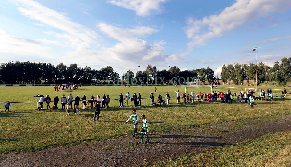 02 Sept 2017. Bucquoy, Pas de Calais, France.<br /> U13 Tournoi de Bucquoy. AJ Artois - Stade de Bucquoy.<br /> US Montreuil travel to Bucquoy for a U13 Tournament.  <br /> Photo©; Charlie Varley/varleypix.com