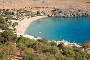 Coastal view north, Lindos, Rhodes, Greece