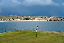 Durness Golf Course on the North Coast 500 tourist motoring route in northern Scotland, UK