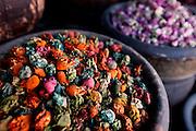 MAROC, Marrakesh: negozio di spezie Morocco