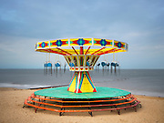 Editions of 17<br /> Carousel Sways Fornlornly on UK Coast in Cleethorpes