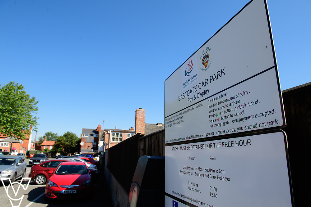 North Kesteven District Council (NKDC) stock images: Eastgate Car Park, Sleaford<br /> <br /> Picture: Chris Vaughan Photography for NKDC<br /> Date: June 25, 2018