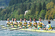 Bled, SLOVENIA. AUS M8+, 2011 FISA World Rowing Championships, Lake Bled. Wednesday  31/08/2011   [Mandatory Credit; Intersport Images]