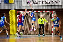 Branka Zec and Nina Zulic of Slovenia during friendly game between national teams of Slovenia and Serbia on 29th of September, Celje, Slovenija 2018