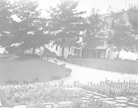 1925 Looking from tennis court at SE elevation of 1847 Camino Palmero