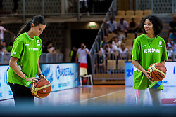 Friendly basketball match between National teams of Slovenia and Italy at day 3 of Adecco Cup 2015, on August 23 in Koper, Slovenia. Photo by Grega Valancic / Sportida