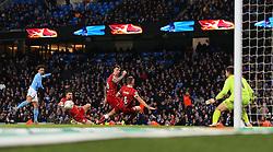 Bristol City players block a shot from Leroy Sane of Manchester City - Mandatory by-line: Matt McNulty/JMP - 09/01/2018 - FOOTBALL - Etihad Stadium - Manchester, England - Manchester City v Bristol City - Carabao Cup Semi-Final First Leg