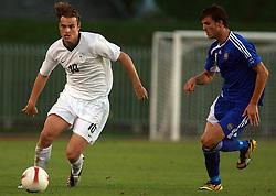 Nejc Pecnik of Slovenia during the Qualifications for UEFA U-21 EC 2009 soccer match between Slovenia and Finland at Velenje stadion At lake, on September 9,2008, in Velenje, Slovenia.  (Photo by Vid Ponikvar / Sportal Images)