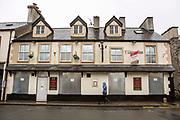 A closed down pub on Bethesda high street. Bethesda, Bangor, Wales.