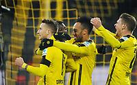 Fotball<br /> Tyskland<br /> Foto: Witters/Digitalsport<br /> NORWAY ONLY<br /> <br /> 3:1 Jubel v.l. Marco Reus, Torschuetze Ousmane Dembele, Pierre-Emerick Aubameyang, Lukasz Piszczek (Dortmund)<br /> Dortmund, 03.12.2016, Fussball Bundesliga, Borussia Dortmund - Borussia Moenchengladbach