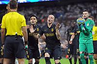 "Football - 2016 / 2017 Champions League - Group E: Tottenham Hotspur vs Monaco""<br /> <br /> Andrea Raggi of Monaco pleads his inocense   at Wembley Stadium<br /> <br /> <br /> Credit : Colorsport / Andrew Cowie"
