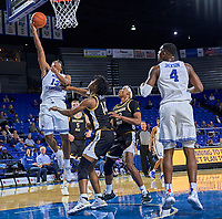 Middle Tennessee Blue Raiders guard Jayce Johnson (13) shoots during the Southern Mississippi Golden Eagles at Middle Tennessee Blue Raiders college basketball game in Murfreesboro, Tennessee, Saturday, March, 7, 2020.<br /> Photo: Harrison McClary/All Tenn Sports