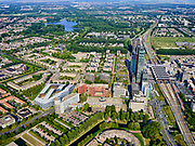 Nederland, Flevoland, Almere, 26-08-2019; Almere Centrum met statitonsgebied.<br /> City centre Almere.<br /> luchtfoto (toeslag op standard tarieven);<br /> aerial photo (additional fee required);<br /> copyright foto/photo Siebe Swart