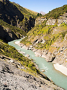 View of Skippers Canyon, near Queenstown, Otago, New Zealand; home of the original New Zealand gold rush.
