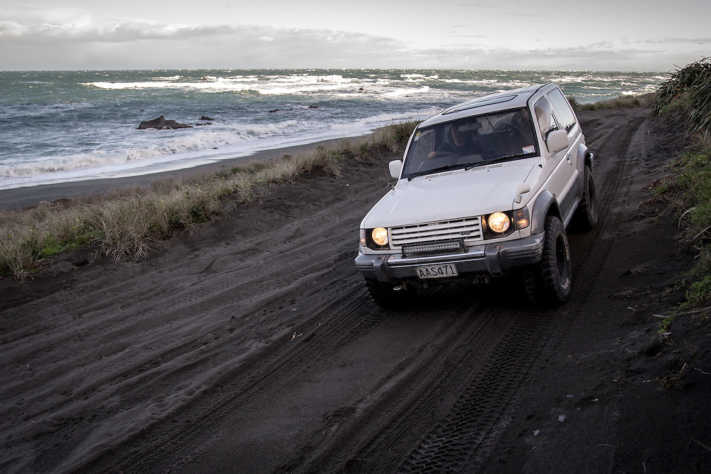 WELLINGTON, NEW ZEALAND - July 8:  Stanley Adam drives around the Wellington South coast on a cold winters day. July 8, 2015 in Wellington, New Zealand.  REAL PEOPLE.  (Photo by Matt Silcock/ real-people.co.nz)
