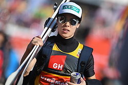 March 22, 2019 - Planica, Slovenia - Ryoyu Kobayashi of Japan is seen during the FIS Ski Jumping World Cup Flying Hill Individual competition in Planica. (Credit Image: © Milos Vujinovic/SOPA Images via ZUMA Wire)
