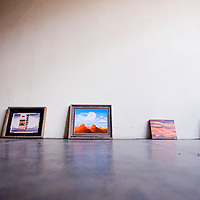 020613       Cable Hoover<br /> <br /> Teen artist Erin Bulow's collected works await hanging at the Crashing Thunder Gallery in Gallup Wednesday.