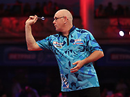 Ian White during the PDC BetVictor World Matchplay Darts 2021 tournament at Winter Gardens, Blackpool, United Kingdom on 21 July 2021.