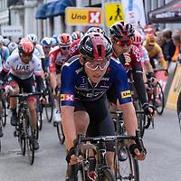 Hjemmehåpet Kristoffer Halvorsen under Tour of Norway sykkelritt etappe 2: Lyngdal - Kristiansand.
