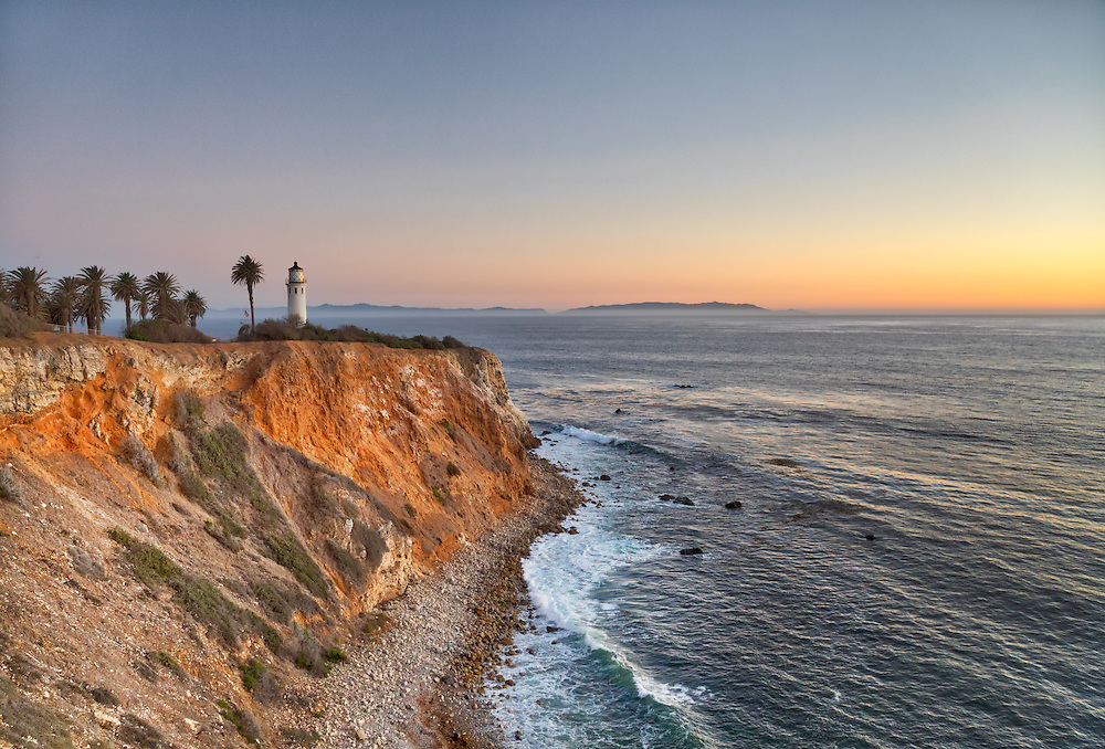USA, California, Ranchos Palos Verdes. The lighthouse at Point Vicente.
