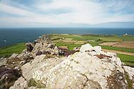 Garn Fawr Fort looking towards March Mawr near Strumble Head on the Pembrokeshire Coast, Wales, Uk