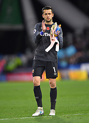 West Ham United goalkeeper Lukasz Fabianski applauds the fans after the final whistle during the Premier League match at the John Smith's Stadium, Huddersfield.