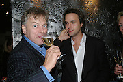 MARK HOLMES AND CHARLIE GILKES, The launch of ' Cooler, Faster, More Expensive, - the Return of the Sloane Ranger. By Peter York and Olivia Stewart-Liberty. Kitts. 7-12 Sloane sq. London. 15 October 2007. -DO NOT ARCHIVE-© Copyright Photograph by Dafydd Jones. 248 Clapham Rd. London SW9 0PZ. Tel 0207 820 0771. www.dafjones.com.