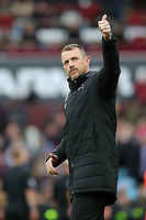 Aston Villa v Derby County - Sky Bet Championship<br /> BIRMINGHAM, ENGLAND - APRIL 28 :  Derby County manager Gary Rowett gives a thumbs up to the fans at the end of the match