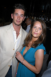 The HON.JAMES TOLLEMACHE and MISS ARABELLA MUSGRAVE at a party hosted by Frankie Dettori, Marco Pierre White and Edward Taylor to celebrate the launch of Frankie's Italian Bar & Grill at 3 Yeoman's Row, London SW3 on 2nd September 2004.