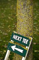 NOORDWIJK - Next tee. bord, Golfcentrum Noordwijk. COPYRIGHT KOEN SUYK