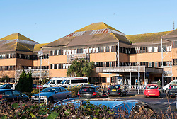 © Licensed to London News Pictures; 05/01/2021; Weston-super-Mare, UK. It is reported that Weston General Hospital has become a 'Covid only' hospital only admitting patients with coronavirus, and with non-covid patients diverted to other hospitals in Bristol. Weston is the smallest district hospital in the country and around half the available beds are now filled with patients with Covid-19. University Hospitals Bristol and Weston NHS Foundation Trust say this move is a temporary measure. In May 2020 there was a coronavirus outbreak at Weston hospital and 31 patients died after they caught the virus while in the hospital. The UK is now under a third national lockdown to try and restrict the spread of Covid-19 after a new strain of a more infectious Covid virus was detected late last year. Photo credit: Simon Chapman/LNP.