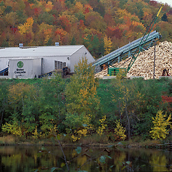 Rumford, ME. Boise Cascade. Northern Forest. Logs waiting to be processed into pulp.