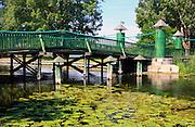 Ełk, 2008-07-12. Mostek, park w Ełku