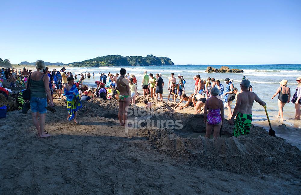 Picture by Daniel Hambury. .11/1/11..Hot Water Beach, Coromandel region, New Zealand