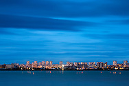 The town of Burgas in the blue hour