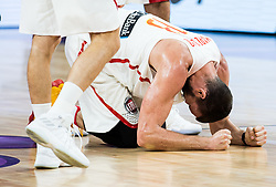 Marc Gasol of Spain injured during basketball match between National Teams  Spain and Russia at Day 18 in 3rd place match of the FIBA EuroBasket 2017 at Sinan Erdem Dome in Istanbul, Turkey on September 17, 2017. Photo by Vid Ponikvar / Sportida
