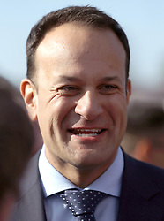 Taoiseach Leo Varadkar in the parade ring during day four of the Punchestown Festival 2018 at Punchestown Racecourse, County Kildare.