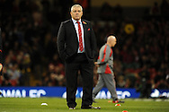 Wales head coach Warren Gatland looks on before k/o. Autumn International rugby, 2013 Dove men series, Wales v South Africa at the Millennium Stadium in Cardiff,  South Wales on Saturday 9th November 2013. pic by Andrew Orchard, Andrew Orchard sports photography,