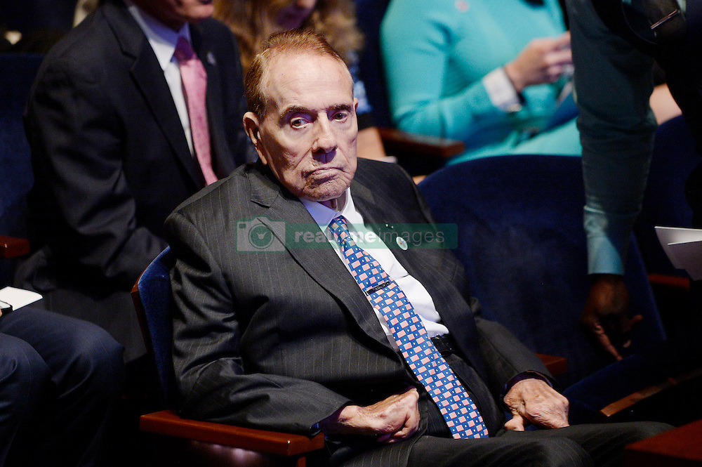 """Bob Dole, the former Kansas senator attends the launch of """"Hidden Heroes"""" campaign at the Capitol September 27, 2016 in Washington, DC. Photo by Olivier Douliery/Abaca"""