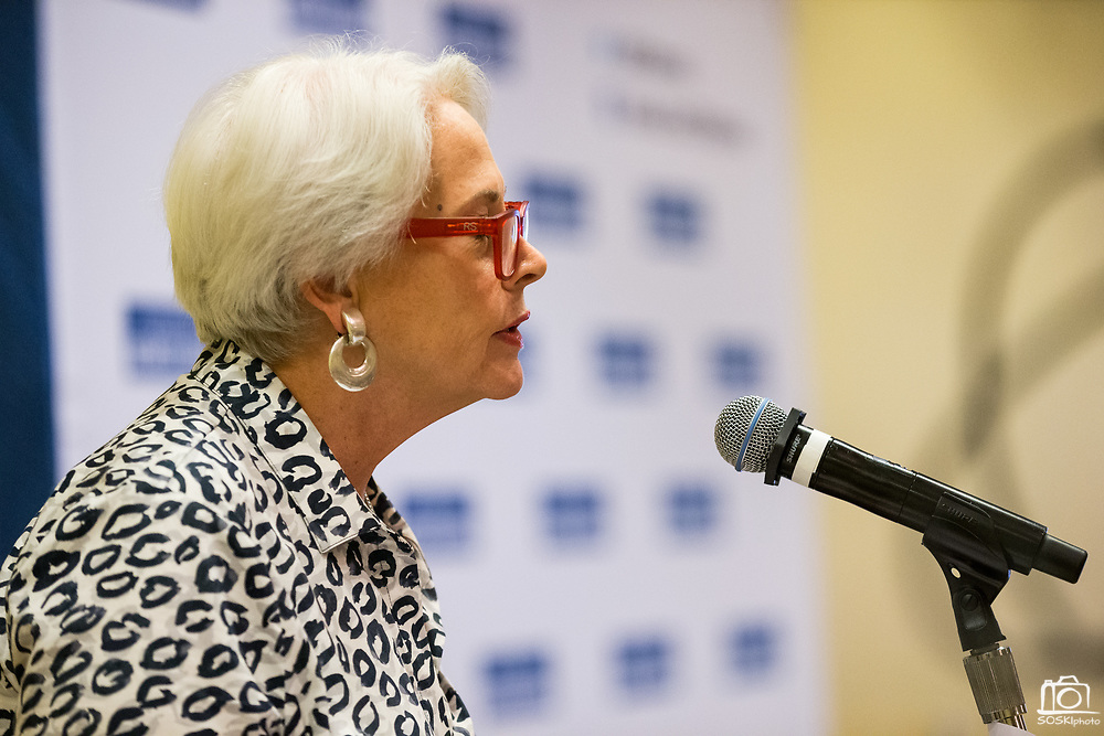 Silicon Valley Business Journal Publisher Mary Huss welcomes attendees during the Silicon Valley Business Journal's Future of Fremont event at Fremont Marriott Silicon Valley in Fremont, California, on June 18, 2019.  (Stan Olszewski for Silicon Valley Business Journal)